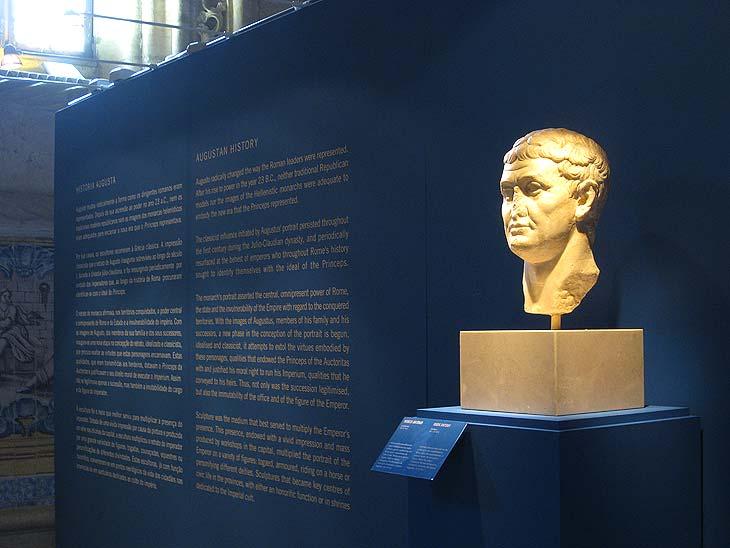 Vista de la exposición Rostros de Roma en Lisboa