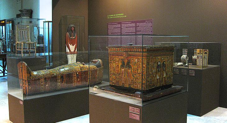 Vista de la exposición 120 años de arqueología española en Egipto