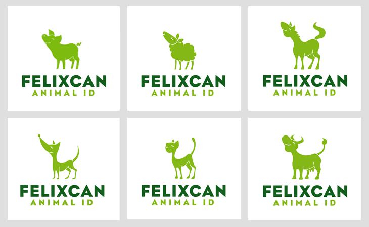 Variaciones del logotipo de Felixcan