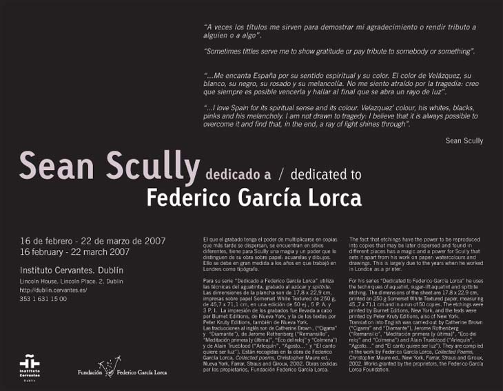 cartel sean scully garcía lorca
