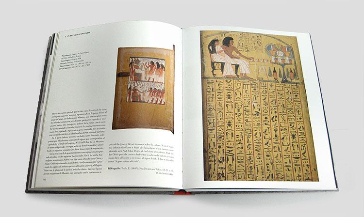 Diseño del catálogo 120 años de arqueología española en Egipto
