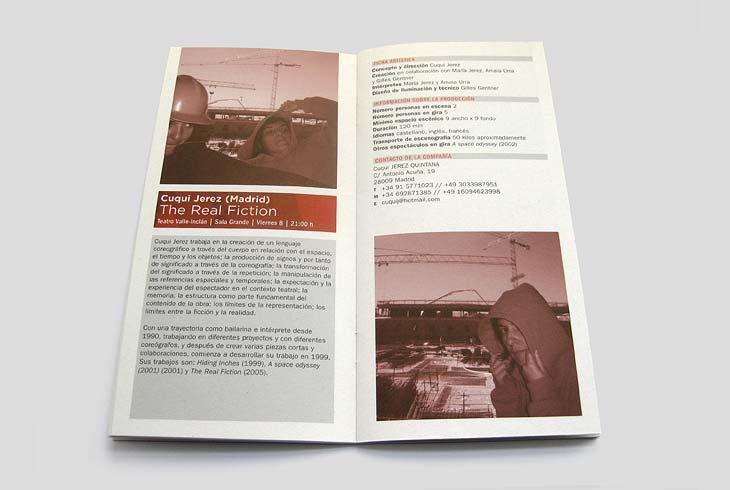 Diseño de programa muestra de artes escénicas instituto cervantes